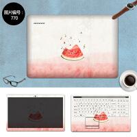 电脑贴纸15.6寸华硕飞行堡垒FX50J/FX-PRO/ZX50J笔记本贴膜保护膜 SC-770 三面+键盘贴
