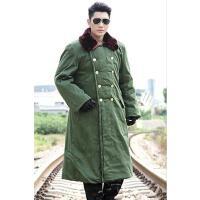 棉衣 男女防寒服 加大码修身长袖大衣 黄棉袄男女款加长加厚款劳保军大衣长款棉大衣