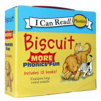 顺丰发货 I can read Biscuit More Phonics Fun 12本小孩子爱 滑稽的动作,生动的故事和简单的图片,惹人喜爱的姜黄色小狗小饼干系列