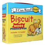 顺丰发货 I can read Biscuit More Phonics Fun 12本小孩子爱 滑稽的动作,生动的故