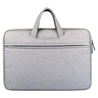 联想平板笔记本电脑包手提15.6 14 13英寸男女苹果三星华硕防水 手提-灰色 12寸