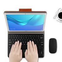 【送钢化膜】华为M5 Pro无线蓝牙键盘保护套10.8英寸M5平板电脑壳CMR-W09/ 棕色【华为M5 10.8/P