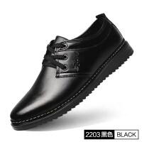 男士皮鞋夏季透气2019新款英伦韩版休闲鞋子青年百搭工作黑色男鞋