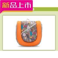 婴儿床垫双肩背包便携式可折叠旅行床大容量妈咪包待产孕妇收纳包 桔色