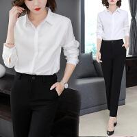 班图诗妮 新款白衬衫女长袖正装衬衣工作服职业秋季工装