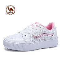 骆驼牌女鞋 春季新款时尚平底休闲鞋女舒适网面小白鞋运动鞋板鞋