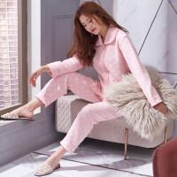 夹棉睡衣女冬季纯棉长袖加厚夹层冬天空气层全棉秋冬款家居服套装