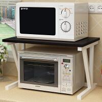 微波炉架双层家用厨房置物架子2层收纳架不锈钢多层烤箱落地架子电磁炉白色电饭锅储物收纳架