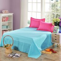 素色磨毛床单 单双人宿舍床单单品 1.5/1.8米床多规格可选 带枕套