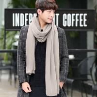 秋冬季韩版针织毛线围巾男冬季年轻人长款情侣男士加厚围脖