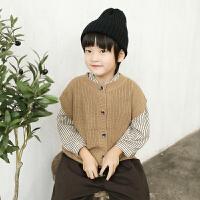 宝宝毛衣马甲春秋男童秋冬外穿儿童针织毛线背心