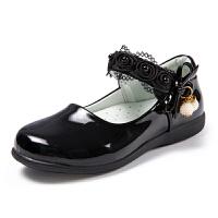 童鞋女童皮鞋黑色公主鞋秋季2017新款儿童白单鞋小学生演出秋鞋子