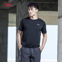 李宁短袖T恤男士训练系列速干凉爽圆领综合短装夏季运动服ATSM149