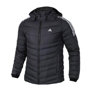 Adidas阿迪达斯男装 运动休闲保暖防风连帽羽绒服夹克外套 BQ8574