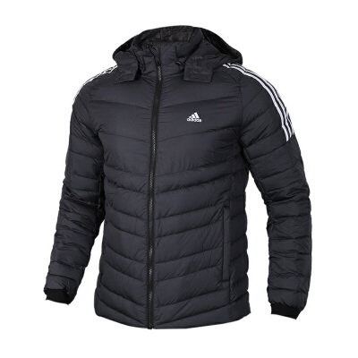 Adidas阿迪达斯男装 运动休闲保暖防风连帽羽绒服夹克外套 BQ8574运动休闲保暖防风连帽羽绒服夹克外套