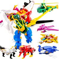 神兽金刚合体变形套装男孩机器人1-3岁