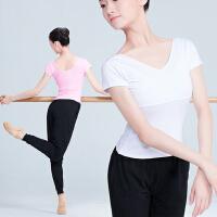 舞蹈服女芭蕾舞练功服短袖上衣体操服夏古典舞形体服教师服装
