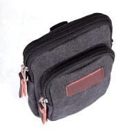 男士帆布腰包 5.5寸6寸手机包单肩斜跨小包包 多功能户外腰包竖款