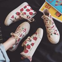 草莓女鞋夏季球鞋新款小白帆布女鞋2019春季板鞋韩版单鞋百搭潮鞋学生布鞋