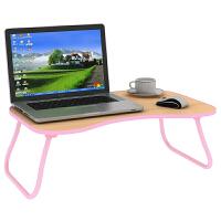 御目 电脑桌 简约家用多功能笔记本桌办公桌包边可折叠床上学习写字书桌子满额减限时抢家具用品
