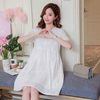 2019新款韩版宽松大码短袖中长款孕妇连衣裙夏天裙子孕妇夏装上衣
