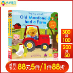 英文原版 Sing Along with Me Old Macdonald Had a Farm 童谣机关操作书 老麦