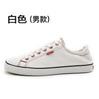 帆布鞋秋季女新款百搭韩版街拍小白鞋港风板鞋学生休闲鞋 男款白色