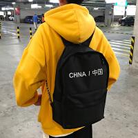 韩版时尚潮流高中学生书包男士双肩包帆布背包校园原宿风ulzzang