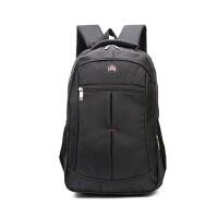 2018新款双肩背商务电脑包男女学生书包旅行包印字大容量旅行背包欢迎订购 黑色 英寸