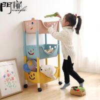 门扉 收纳架 创意韩版幼儿园书架儿童玩具置物架塑料柜子家居日用多功能大容量宝宝卡通杂物架子