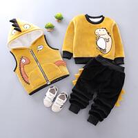 男宝宝冬装套装三件套婴儿小童冬季衣服潮