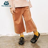 【129元任选3】迷你巴拉巴拉女童阔腿裤秋季新款童装儿童休闲长裤宝宝裤子