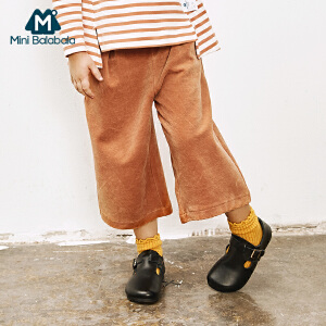 【2件3.8折】迷你巴拉巴拉女童阔腿裤秋季新款童装儿童休闲长裤宝宝裤子