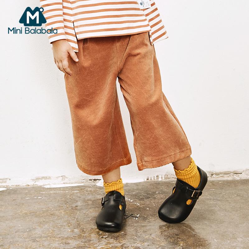 【尾品价:49】迷你巴拉巴拉女童阔腿裤2018秋季新款童装儿童休闲长裤宝宝裤子