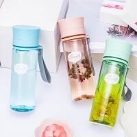 日本泰福高 便携带盖随手杯 创意学生水杯防漏随身塑料泡茶杯子