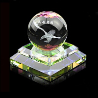 幻海 汽车用品内雕汽车香水座 水晶创意汽车摆件香水