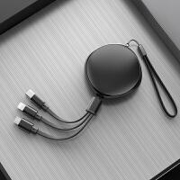 一拖三苹果数据线三合一充电线器手机快充多头iphone6s伸缩多功能type-c安卓二合一通用华为P