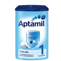 保税区直发 英国Aptamil爱他美婴幼儿配方奶粉1段(0-6个月宝宝 900g)保质期到2018年4月左右