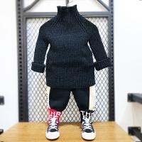 童装男童毛衣秋冬装儿童高领针织衫套头衫线衣潮