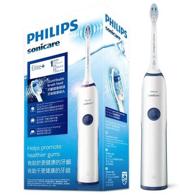 飞利浦(PHILIPS)电动牙刷成人 声波震动情侣充电式 净白自动牙刷 HX3226/22