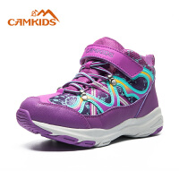camkids垦牧童鞋儿童运动鞋2018冬季新款女童棉鞋加绒男童登山鞋