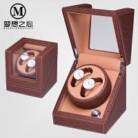 摇表器摇摆盒机械表自动上链盒手表上弦器晃表器上链表盒 马鞍棕