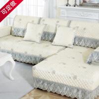 欧式沙发垫四季通用布艺防滑坐垫北欧简约全包套罩沙发靠背巾