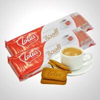 促销 lotus和情焦糖饼干312.5g*2 每包50片休闲零食品