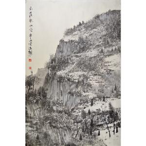 河北省美术家协会会员 王佳 《木落秋山》空60*91cm