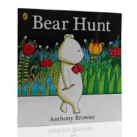 进口英文原版 Anthony Browne:Bear Hunt 安东尼・布朗:猎熊 野蛮游戏 儿童绘本