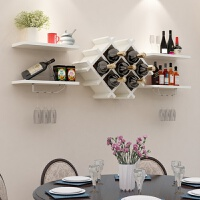 小型壁挂酒柜现代简约餐厅悬挂式酒架客厅墙上装饰隔板置物架创意酒架