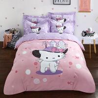 全棉纯棉磨毛四件套床上用品床单床品套件1.5/1.8床