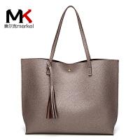 莫尔克(MERKEL)2019新款时尚女包潮流欧美风范流苏女单肩包时尚休闲手提包简约大包包