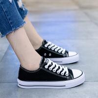 新款复古帆布鞋女鞋子百搭小黑鞋学生板鞋ins韩版ulzzang布鞋